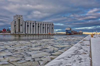 Photograph - Algoma Algoway In Winter Dock by Irwin Seidman