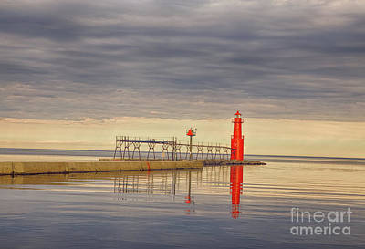 Nikki Vig Royalty-Free and Rights-Managed Images - Algoma Wisconsin Lighthouse One by Nikki Vig