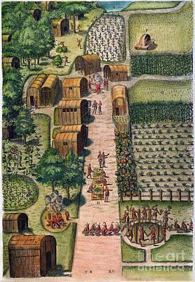 Photograph - Algonquian Village, 1590 by Granger