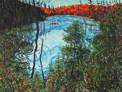 Swamp Oil Painting - Algonquin Afternoon by Phil Chadwick
