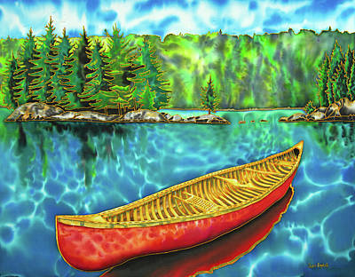 Painting - Algonquin Park Canada - Red Canoe by Daniel Jean-Baptiste