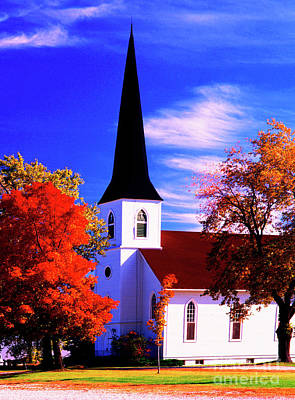 Photograph - Algonquin Rd Church St Johns United  by Tom Jelen