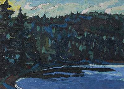 Painting - Algonquin Rock Lake Eastern Ridges by Phil Chadwick