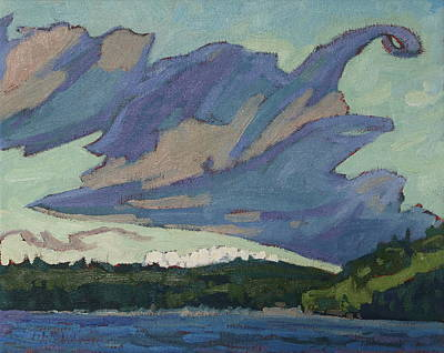 Painting - Algonquin Rock Lake Sunrise by Phil Chadwick