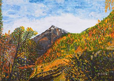 Algund View Art Print by Valerie Ornstein