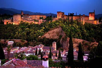 Photograph - Alhambra At Night  by Harry Spitz