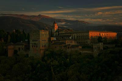 Photograph - Alhambra At Sunset by Jonathan Hansen
