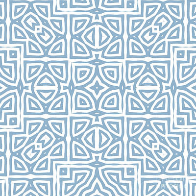 Repeat Painting - Alhambra Blue by Mindy Sommers