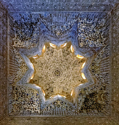 Photograph - Alhambra Ceiling Art by Adam Rainoff