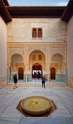 Photograph - Alhambra Courtyard by Adam Rainoff