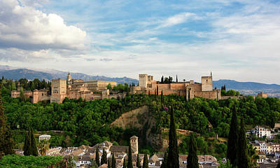 Photograph - Alhambra In The Evening by Marion McCristall