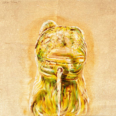 Algal Painting - Alhambra Lion 11 by F Bolivar Galiano