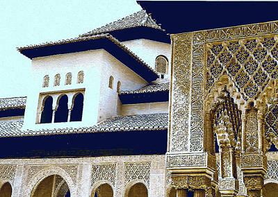 Digital Art - Alhambra by Mindy Newman