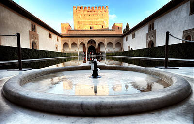 Photograph - Alhambra Palace Fountain by Adam Rainoff