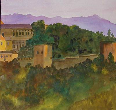 Painting - Alhambra Palace, Granada, Spain, Fall 2 by Joy Fahey