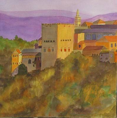Painting - Alhambra Palace, Granada, Spain, Fall by Joy Fahey
