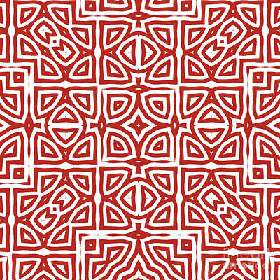 Ethnic Painting - Alhambra Red by Mindy Sommers