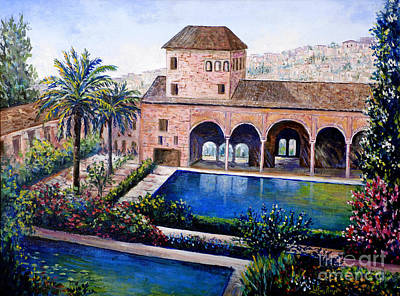 Painting - Alhambra Spain by Lou Ann Bagnall
