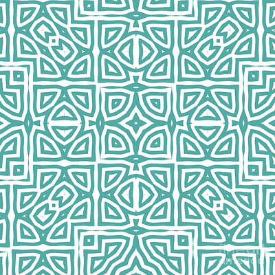 Ethnic Painting - Alhambra Teal by Mindy Sommers