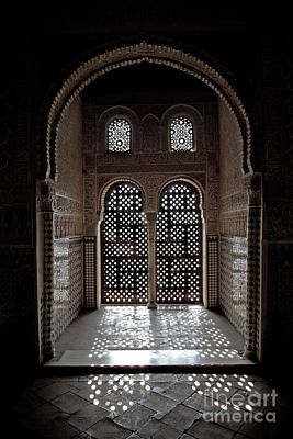 Arabic Photograph - Alhambra Window by Jane Rix