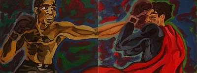 Fleurant Painting - Ali - The Real Superman by Jason JaFleu Fleurant
