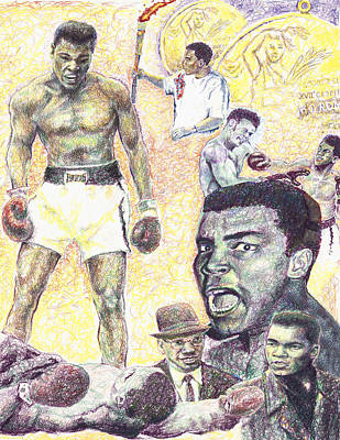 Drawing - Ali by Charles  Bickel