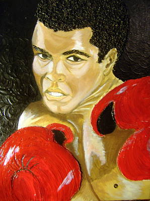 Keenya Woods Painting - Ali- I Am The Greatest by Keenya  Woods