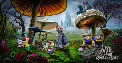 Digital Art - Ali In Wonderland by Don Olea