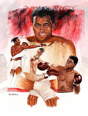 Art Print featuring the painting Ali by Joe Winkler
