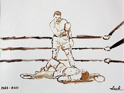 Knockout Painting - Ali Knockout by Jack Bunds