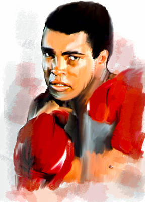 Muhammed Painting - Ali  Muhammad Ali  by Iconic Images Art Gallery David Pucciarelli