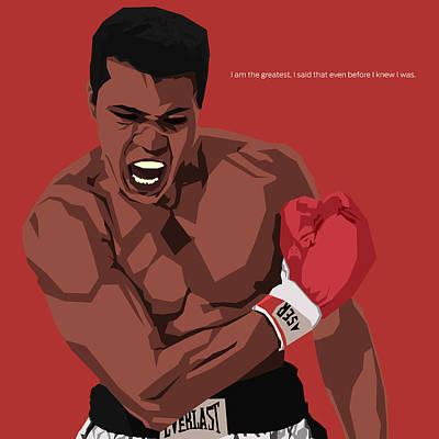Boxing Legends Digital Art - Ali by Rs L