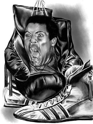 Muhammed Drawing - ALI by Terri Meredith