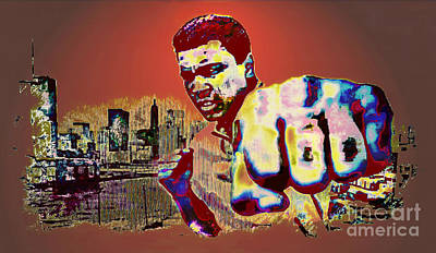 Boxer Mixed Media - Ali The Greatest - Tribute by Ian Gledhill
