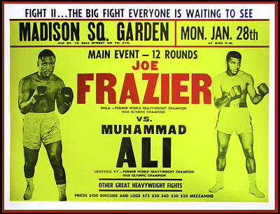 Boxer Digital Art - Ali Vs Frazier Boxing Poster by Bill Cannon
