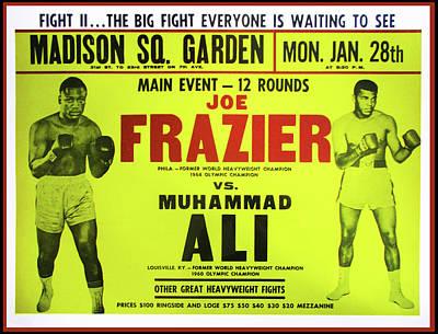 Madison Square Garden Photograph - Ali Vs Frazier Boxing Poster by Bill Cannon
