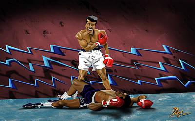 Boxing Legends Digital Art - Ali Vs. Liston by Todd Nelson