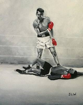 Painting - Ali Vs Liston by Justin Lee Williams