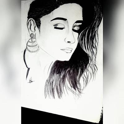 Alia Bhatt Pencil Sketch Original