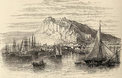 Manning Drawing - Alicante Spain From The Book Spanish by Vintage Design Pics