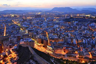 Photograph - Illuminated City by Marek Stepan