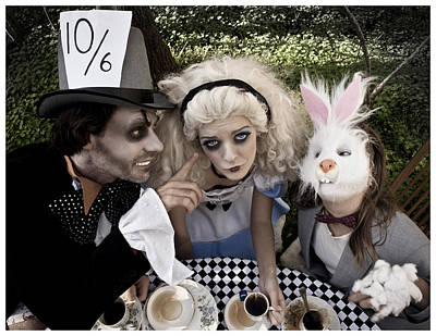 Wonderland Photograph - Alice And Friends 2 by Kelly Jade King