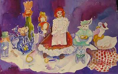 Painting - Alice And Friends by Linda Rupard