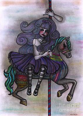 Alice And Merry-go-round Art Print
