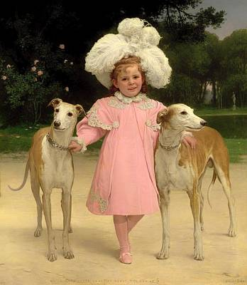 Greyhound Painting - Alice Antoinette De La Mar About The Age Of 5 by Mountain Dreams
