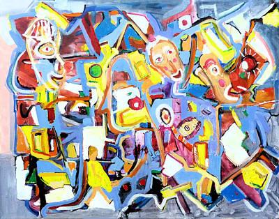 Painting - Alice At Funland Amusement Park, San Francisco 1967 by Rojo Chispas