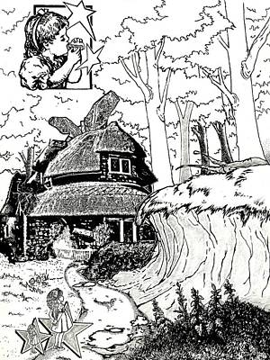 Alice At The March Hare's House Print by Turtle Caps
