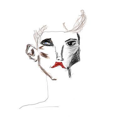 Drawing - Alice by Bill Owen