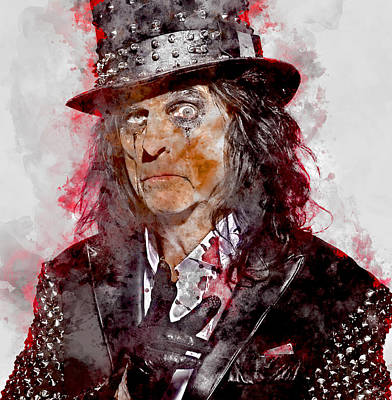 Mixed Media - Alice Cooper by Marvin Blaine