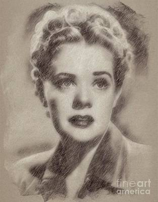 Singer Drawing - Alice Faye, Actress by Frank Falcon